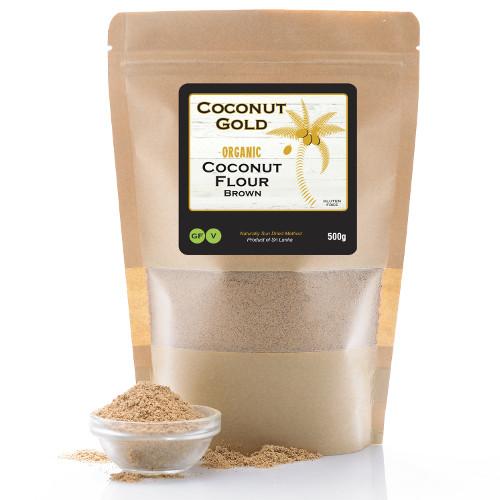 coconut flour - brown