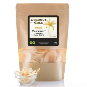 shaved raw coconut chips